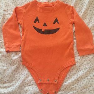 Long sleeved pumpkin onesie!